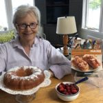 Brooke Dojny with cookbook and Bundt cake
