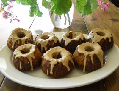 Mini Bundt cakes, Java Spice Cake with Coffee Glaze
