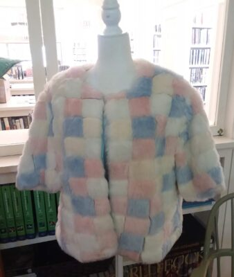 Jacket faux fur sewn by Hanna Persson