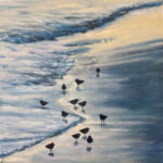 Oil painting called Plovers by Sherry Streeter