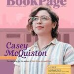 Bookpage cover with Casey McQuiston and pink background for June 2021
